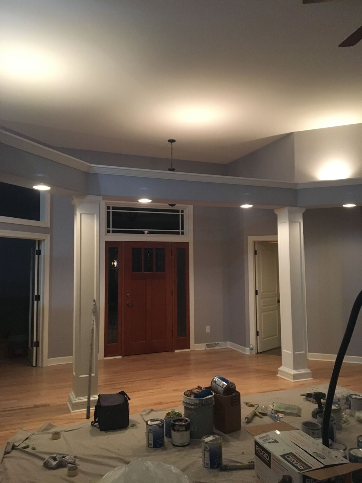 Fox Point house interior painting and staining work