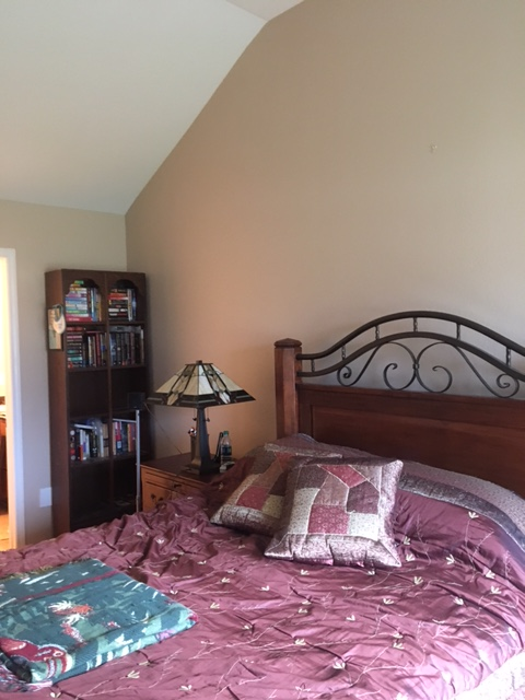 Germantown Painting Contractors did a perfect job painting this bedroom including the ceiling