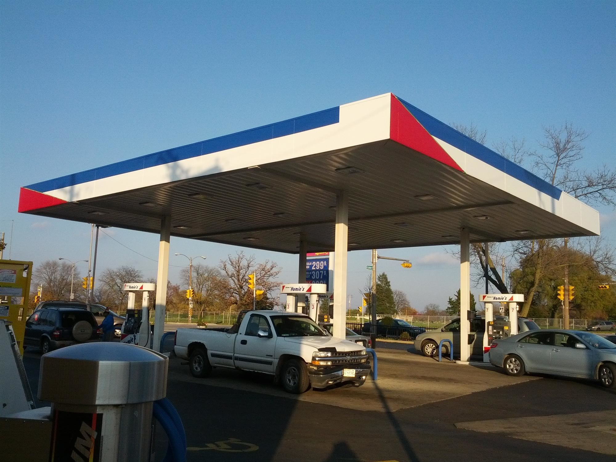 Milwaukee gas station painted by K2 painting contractors