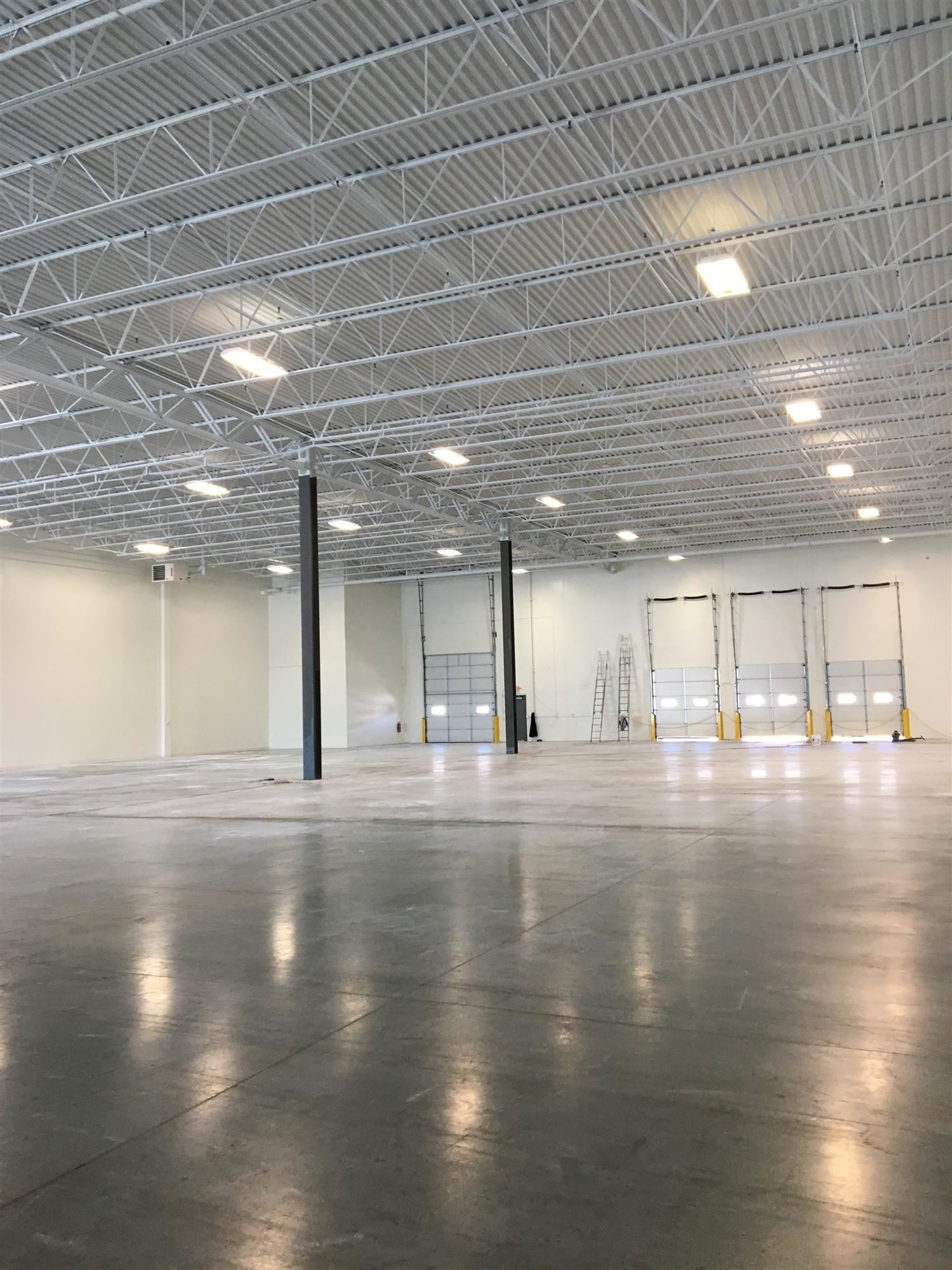 Industrial painting contractors completed the interior of this industrial building in Racine WI
